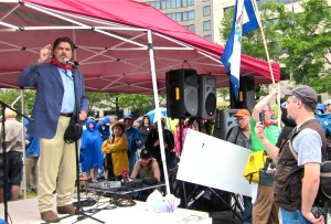 Jesse Johnson Speaks at the Appalachia Rising Rally, Washington, DC, 9/27/10